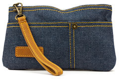Pouch of denim Royalty Free Stock Images
