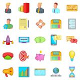 Pouch icons set, cartoon style Royalty Free Stock Photography