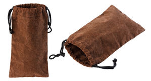 Pouch, suede, Royalty Free Stock Image