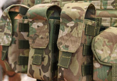 Pouches for ammunition closeup Royalty Free Stock Images