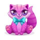 Pouco ícone bonito do gatinho dos desenhos animados ilustração do vetor