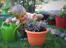 Pouco ajudante do jardim Imagens de Stock Royalty Free
