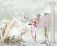 Pouco anjo Imagem de Stock Royalty Free