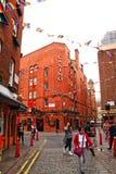 Pouco bairro chinês Londres Reino Unido da rua de Newport Imagem de Stock
