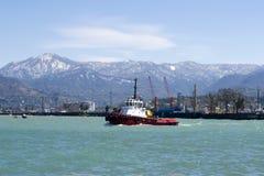 Pouco barco do reboque fotografia de stock royalty free
