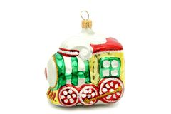 Pouco brinquedo da árvore de Natal do trem Imagens de Stock
