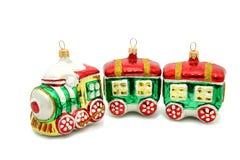 Pouco brinquedo da árvore de Natal do trem Imagem de Stock Royalty Free