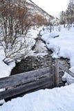 Pouco córrego nos montes de Noruega Imagens de Stock Royalty Free