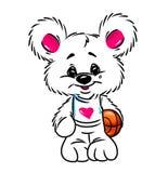 Pouco caráter da talismã do basquetebol do urso Fotografia de Stock