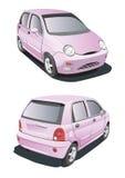 Pouco carro cor-de-rosa ilustração stock