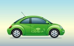 Pouco carro verde Fotos de Stock Royalty Free