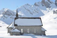 Chappel em Melchsee-Frutt, Switzerland Fotografia de Stock