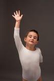 Pouco dançarino de bailado que faz algo Fotos de Stock Royalty Free