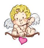 Pouco deus do amor ilustração stock