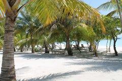 Pouco espaço em Maldivas Foto de Stock