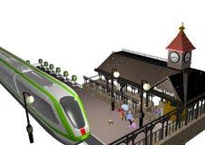 Pouco estação de caminhos-de-ferro Fotografia de Stock Royalty Free
