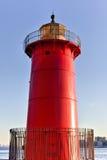 Pouco farol vermelho - New York imagem de stock royalty free