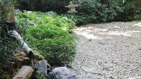 Pouco fonte japonesa no jardim filme