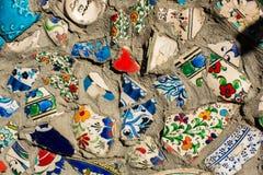 Pouco fragmenta de telhas antigas do otomano como um fundo fotografia de stock