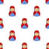 Pouco Hood Avatar Seamless de montada vermelho Fotografia de Stock Royalty Free