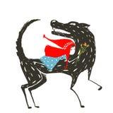 Pouco Hood Fairytale Illustration de montada vermelho ilustração stock
