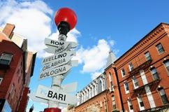 Pouco Italy em Boston imagens de stock royalty free