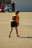 Pouco jogador do rugby Foto de Stock
