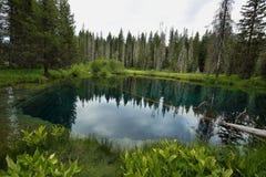 Pouco lago da cratera, Oregon Fotografia de Stock
