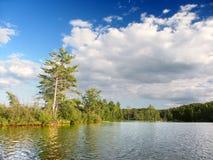 Pouco lago Wisconsin Bearskin imagem de stock royalty free