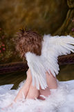 Pouco menino do anjo Imagem de Stock