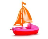 Pouco navio plástico do brinquedo Imagem de Stock Royalty Free