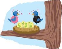 Pouco ovo de ninho ilustração royalty free