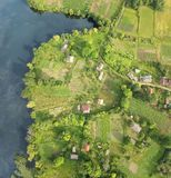 Pouco panorama da antena da vila Imagem de Stock