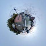 Pouco panorama do planeta de Dusseldorf Fotografia de Stock