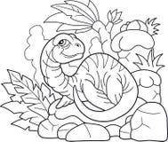 Pouco plesiosaur, ilustração engraçada ilustração stock