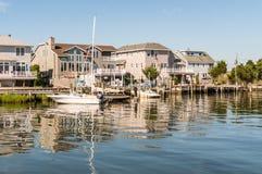 Pouco porto do ovo, ilha de Long Beach, NJ, EUA imagens de stock