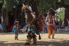 Pouco Powwow dançarino Fotos de Stock Royalty Free