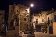 Pouco quadrado de Aliano, Basilicata a TI imagem de stock royalty free