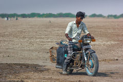 Pouco Rann do deserto de Kutch Fotografia de Stock