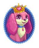 Pouco retrato macio do cão dos desenhos animados bonitos ilustração royalty free