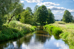 Pouco rio Fotografia de Stock