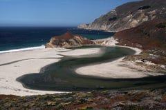 Pouco rio de Sur, Califórnia PCH Foto de Stock Royalty Free