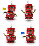 Pouco robô Fotografia de Stock Royalty Free