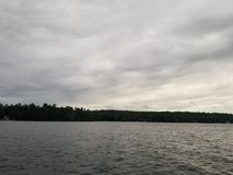 Pouco Sebago Maine Lake Summertime fotografia de stock