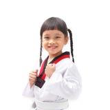 Pouco taekwondo Fotos de Stock Royalty Free