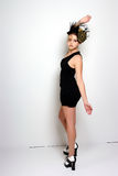 Pouco vestido de cocktail preto Fotos de Stock