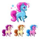Poucos cavalos dos desenhos animados Fotografia de Stock Royalty Free