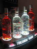 Poucos frascos da vodca, potência que ligting, Fotos de Stock