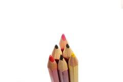Poucos lápis isolados Imagem de Stock Royalty Free
