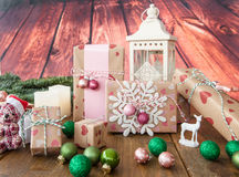 Poucos presentes de Natal Fotografia de Stock